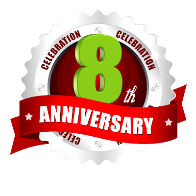 8th-anniversary-logo-template-in-the-Round-label-psdfiles.in