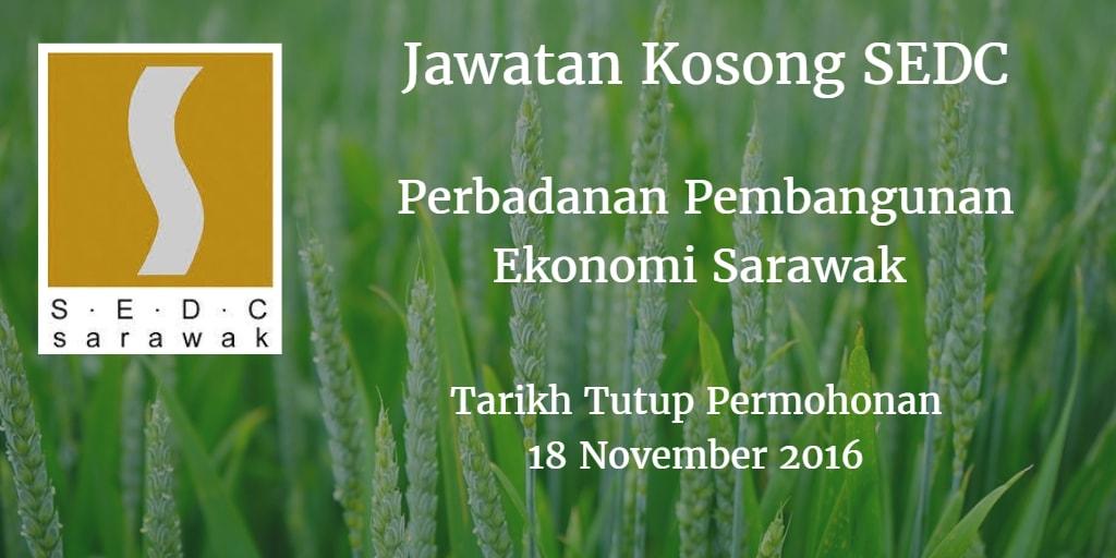 Jawatan Kosong SEDC 18 November 2016