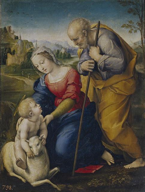 Rafaello Sanzio - Sagrada Familia del Cordero - 1507