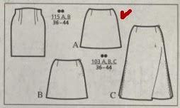 Wykrój spódniczki klasycznej z Burdy