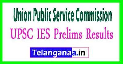 UPSC IES Prelims Results