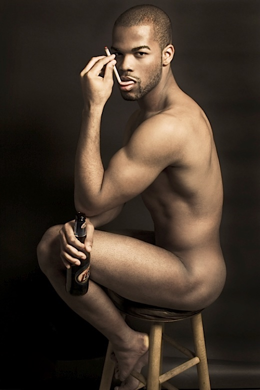 average-nude-black-man
