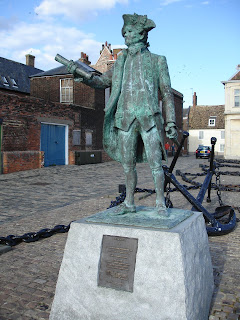 Captain Vancouver statue in King's Lynn