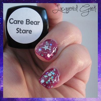 dollish polish care bear stare swatch