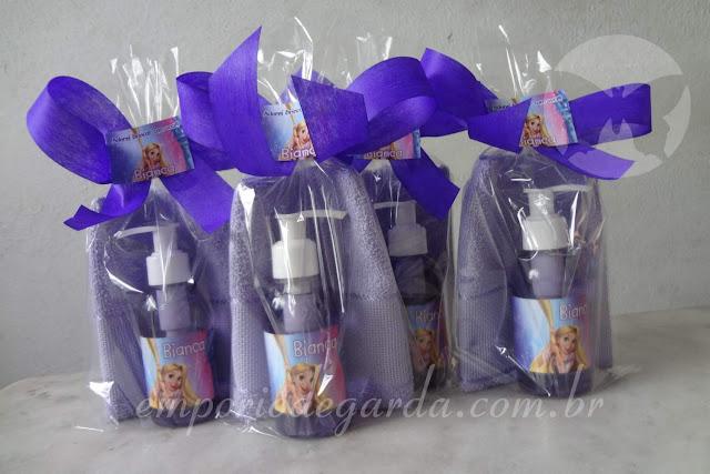 Lembrancinhas Enrolados Rapunzel Azul