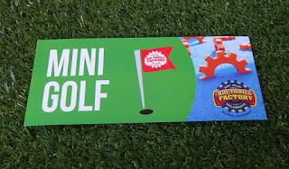 A Big Thrill Factory Mini Golf course scorecard
