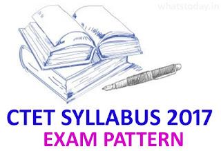 CTET Syllabus 2017, CTET Pattern, CTET 2017 Syllabus Paper 1,2