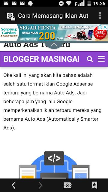 Cara Memasang Iklan Auto Ads di Blog
