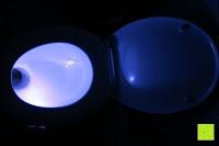 Toilette: Bonlux Bewegung aktiviert LED-WC-Nachtlicht 16 Farben ändern Batteriebetriebene automatische Sensor-LED-Nachtlicht für Badezimmer Waschraum -WC-Schüssel Sitz Lampe [Energieklasse A+]