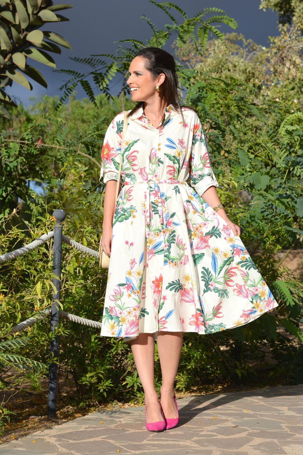 zara-flowers-dress-ladylike-outfit-streetstyle
