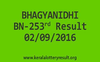 BHAGYANIDHI BN 253 Lottery Result 02-09-2016