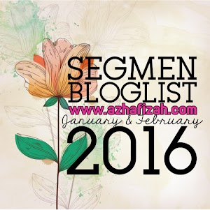 Segmen Bloglist Azhafizah.com Jan & Feb 2016