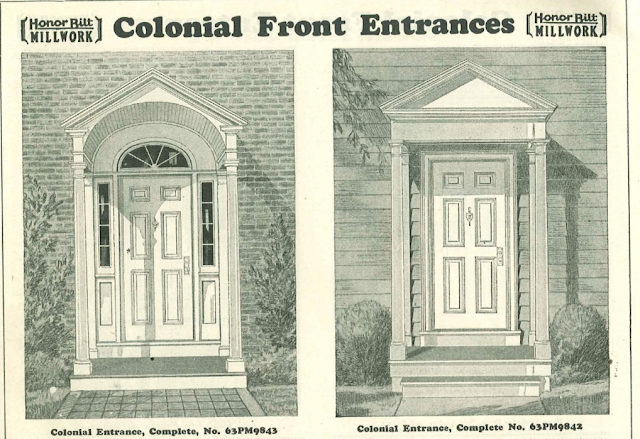catalog images of Sears colonial entrances