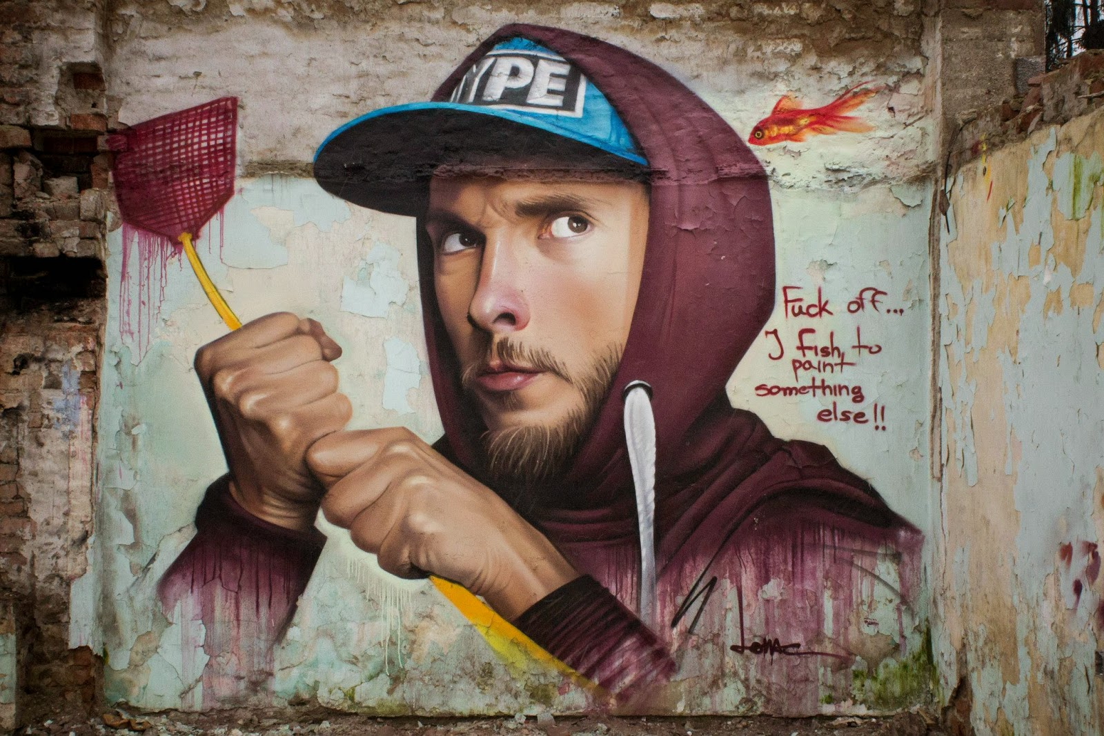 The Croatian photorealistic maestro known Lonac is back in business with a brand new piece which he just completed somewhere on the streets of Zagreb in Croatia.