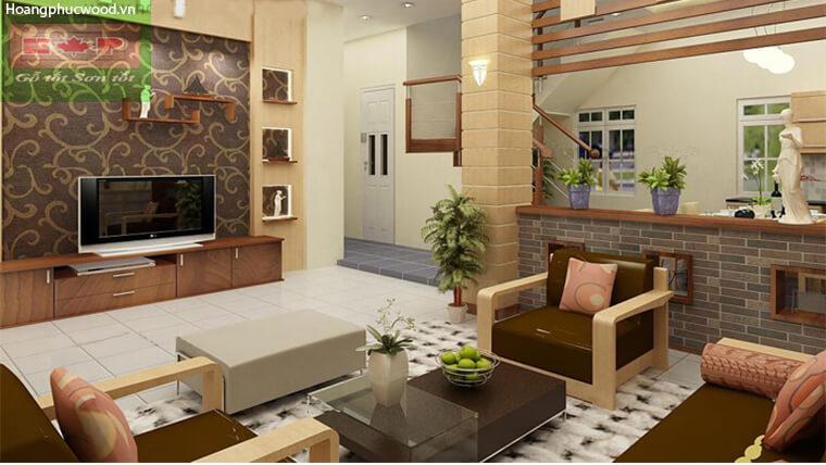 Thiết kế tủ kệ tivi cho phòng khách