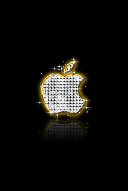Diamond Apple Logo iPhone Wallpaper By TipTechNews.com