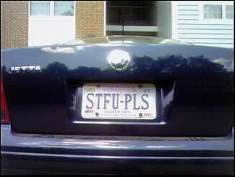 Funny Car Number Plates