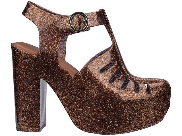 Melissa Aranha 79/16 Heel Bronze Glitter