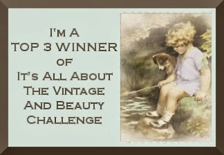 I was Top 3 at It's all about Vintage And Beauty Challenge