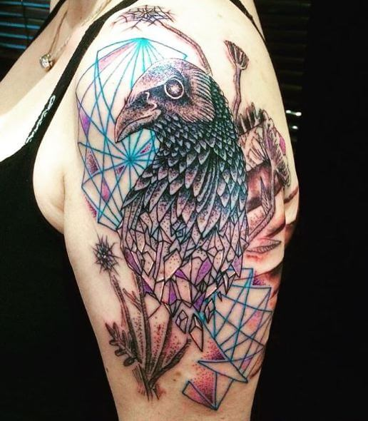 50 Crow Raven Tattoo Designs For Men 2019 With Meaning