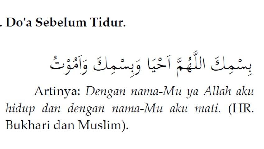 Doa Sebelum Tidur Dan Setelah Bangun Tidur Beserta Artinya Masterbama