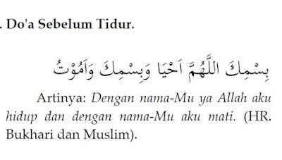 Doa Sebelum Tidur Dan Setelah Bangun Tidur
