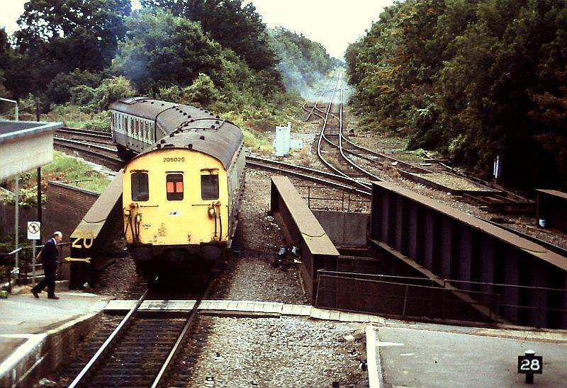 The Gosport Line from Fareham station