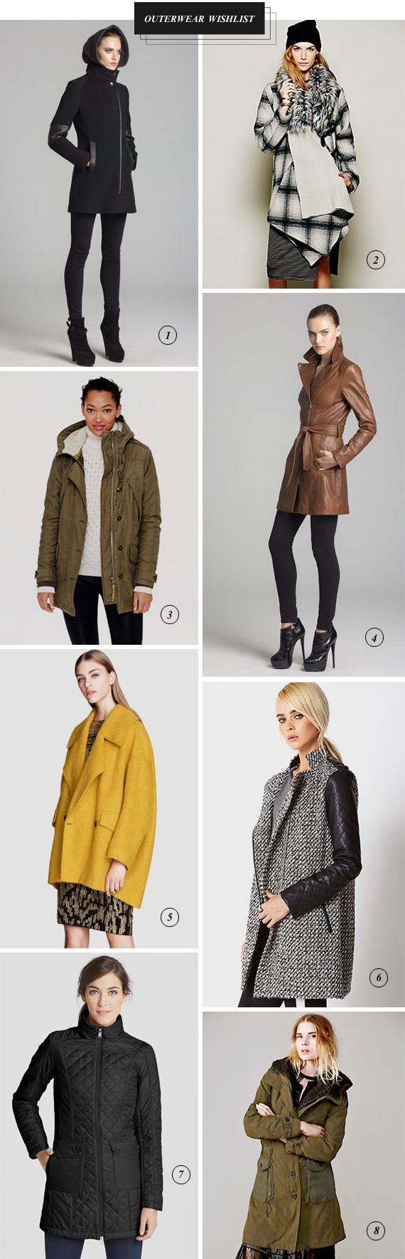Winter Outerwear Wishlist