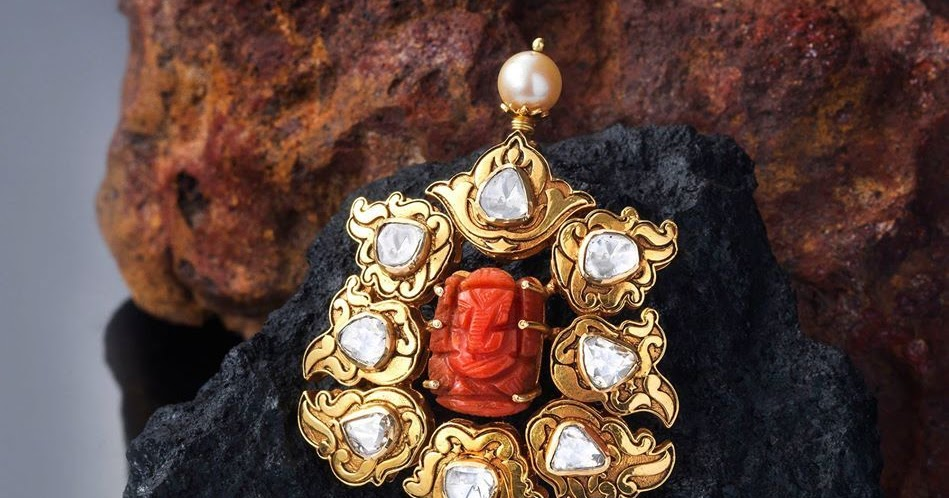 Ganesh Pendants Highlighted With Stones