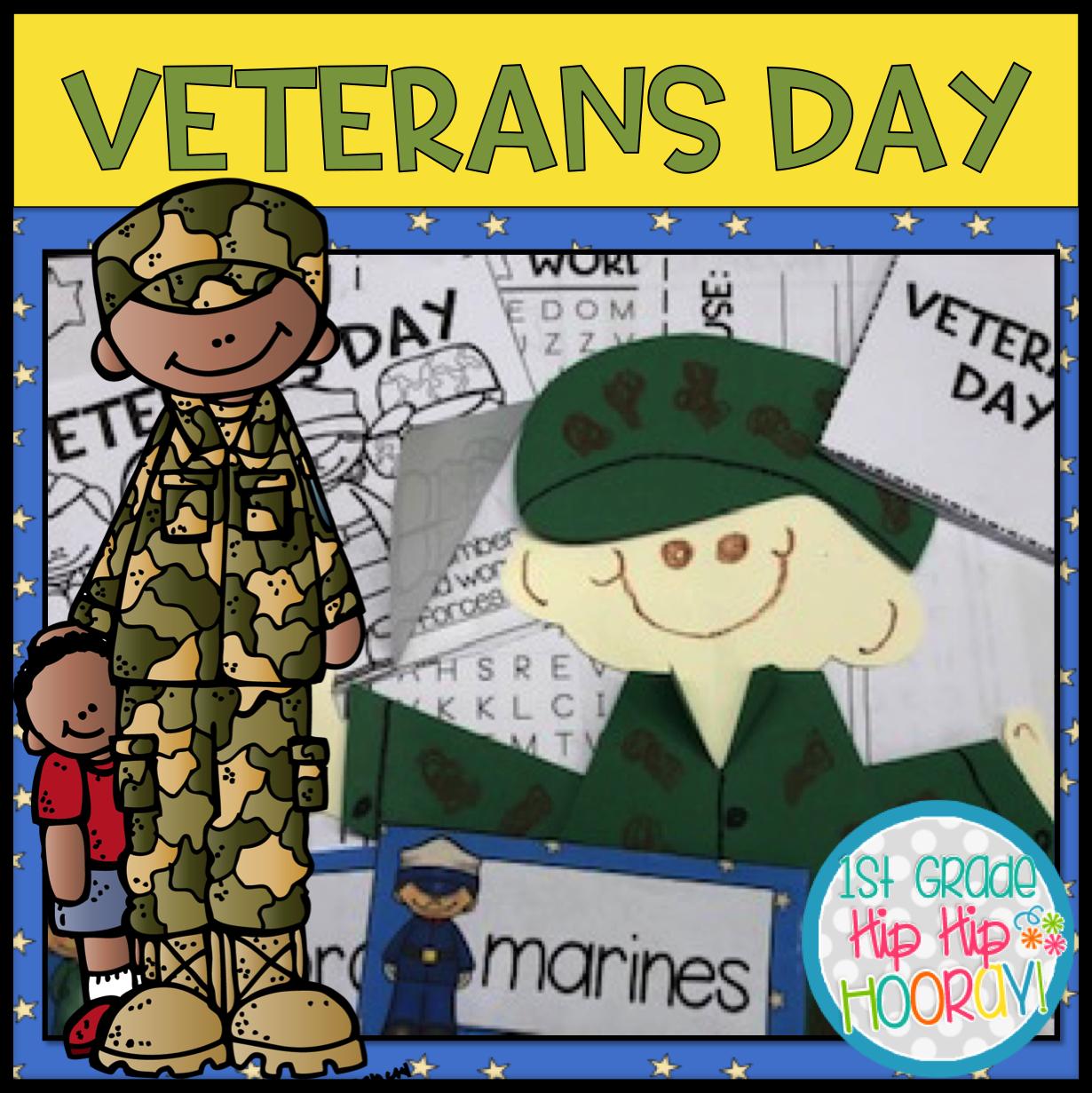 1st Grade Hip Hip Hooray Veterans Day Aft And Activities