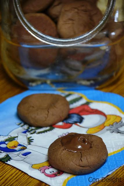 עוגיות נוטלה מ-2 מרכיבים 2 ingredients nutella cookies