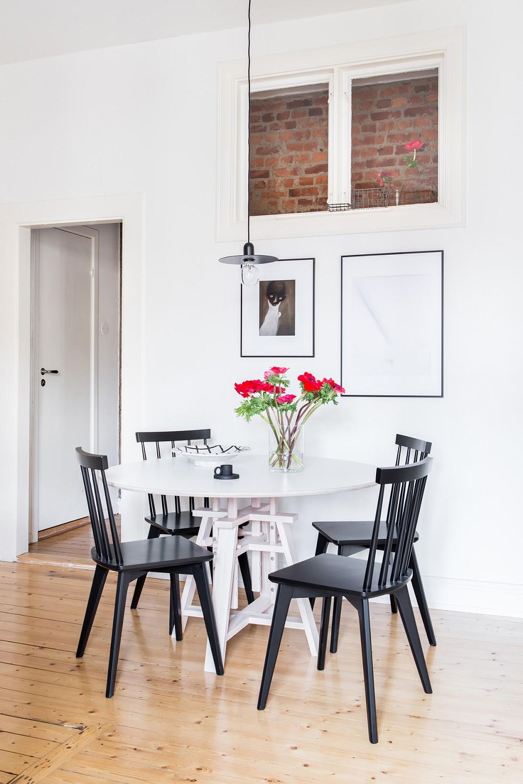 comedor, blanco, estilo nordico, suelo natural, madera natural, interiorismo, decoracion nordica,