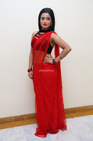 Aasma Syed in Red Saree Sleeveless Black Choli Spicy Pics ~  Exclusive Celebrities Galleries 041.jpg