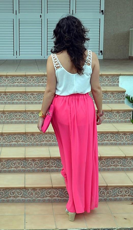 falda rosa, 10 pavos, castellón, blog de moda, fashion blogger, mi vestido azul, blogger