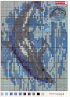 Схема вышивки дельфина