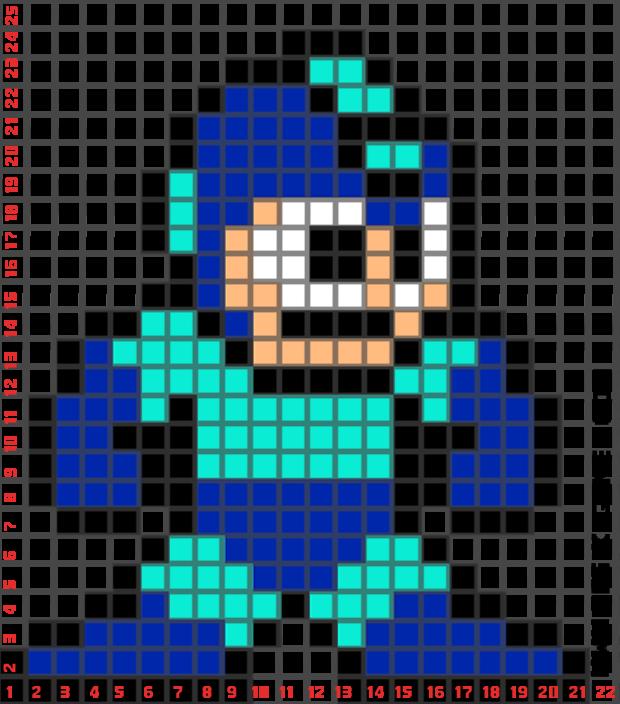 Megaman minecraft building idea for Minecraft pixel art template maker