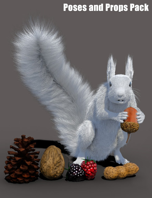 Rodents by AM: Squirrel Props and Poses