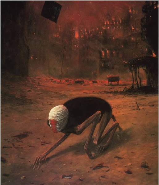 Zdzislaw Beksinski, Macabre Art, Macabre Paintings, Horror Paintings, Freak Art, Freak Paintings, Horror Picture, Terror Pictures