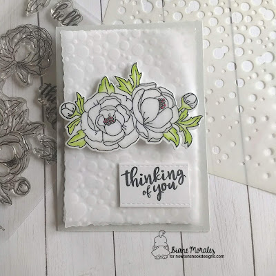 Thinking of You a card by Diane Morales | Peony Blooms Stamp Set by Newtons Nook Designs