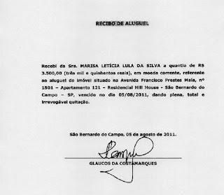 Defesa de Lula insiste que os recibos são verdadeiros, para MP são falsos