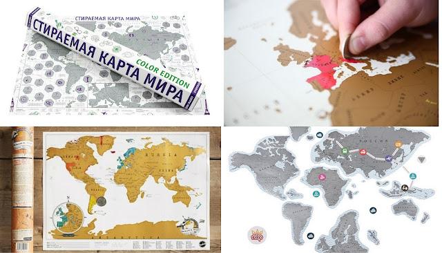 Что подарить путешественнику? идеи подарков для любителя путешествий стиральная карта мира