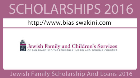 Jewish Family Scholarship and Loans 2016