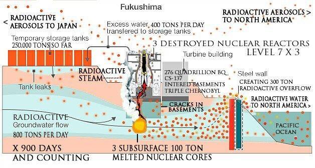 Fukushima Coriums Melted Through The Concrete Base Mat Under