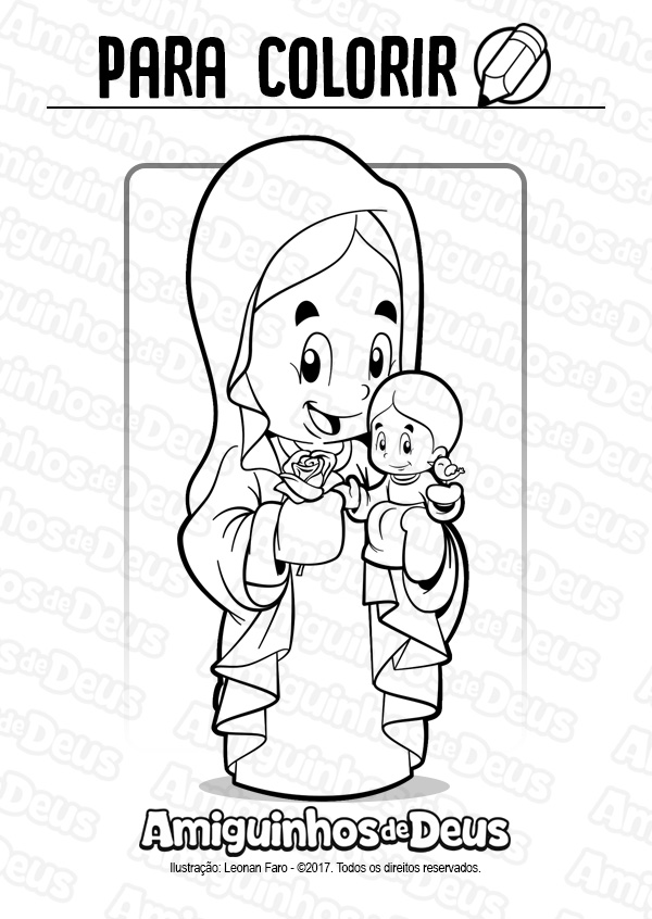 santa maria la antigua desenho para colorir