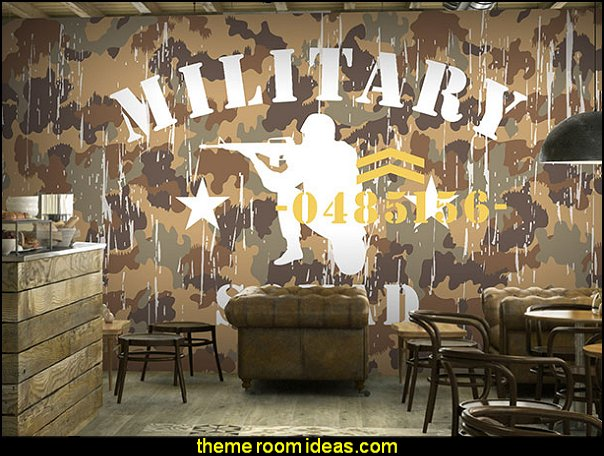 Decorating theme bedrooms maries manor may 2016 for Army wallpaper mural