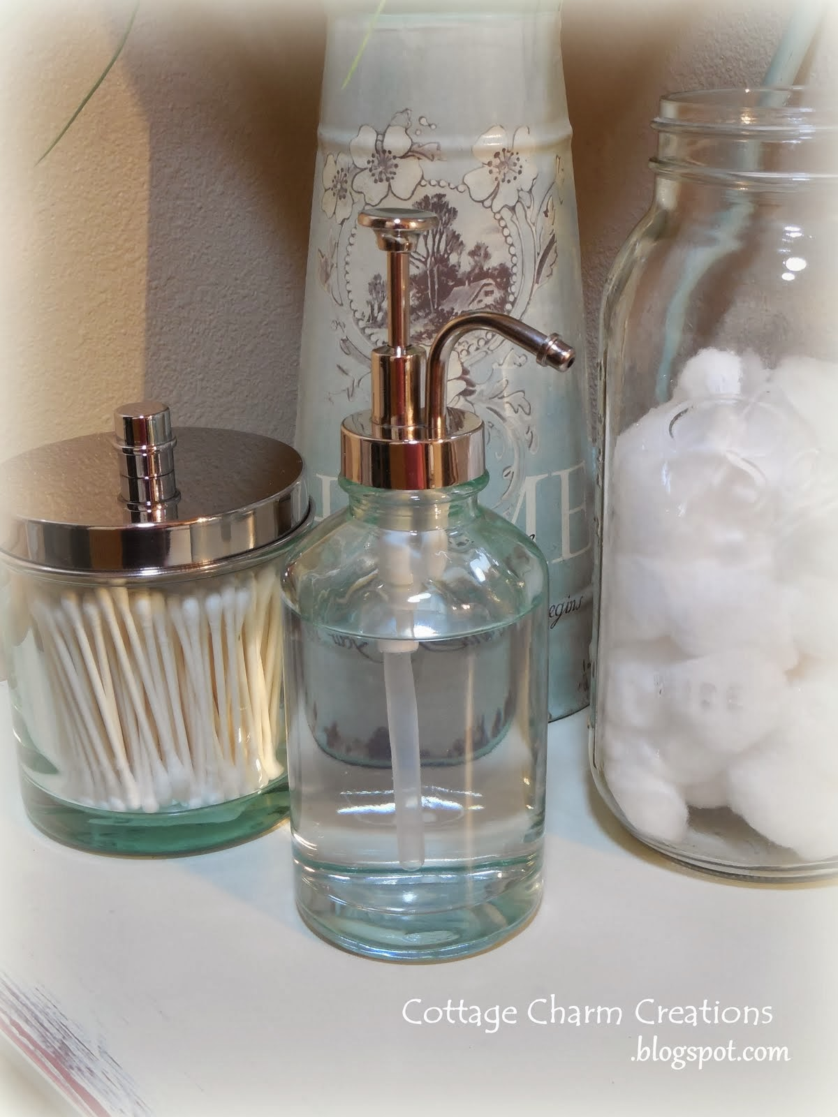 Vintage Bathroom Soap Dispenser Cottage Charm Creations Vintage Soap Dispensers