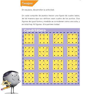 Respuestas Apoyo Primaria Desafíos Matemáticos 4to. Grado Bloque III Lección 61 Cuadriláteros