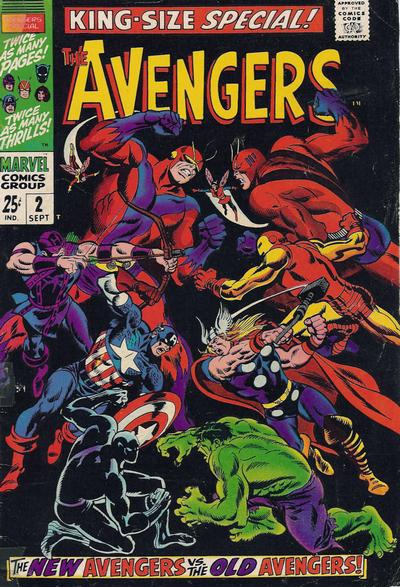 Avengers Annual #2, the original Avengers vs the new Avengers