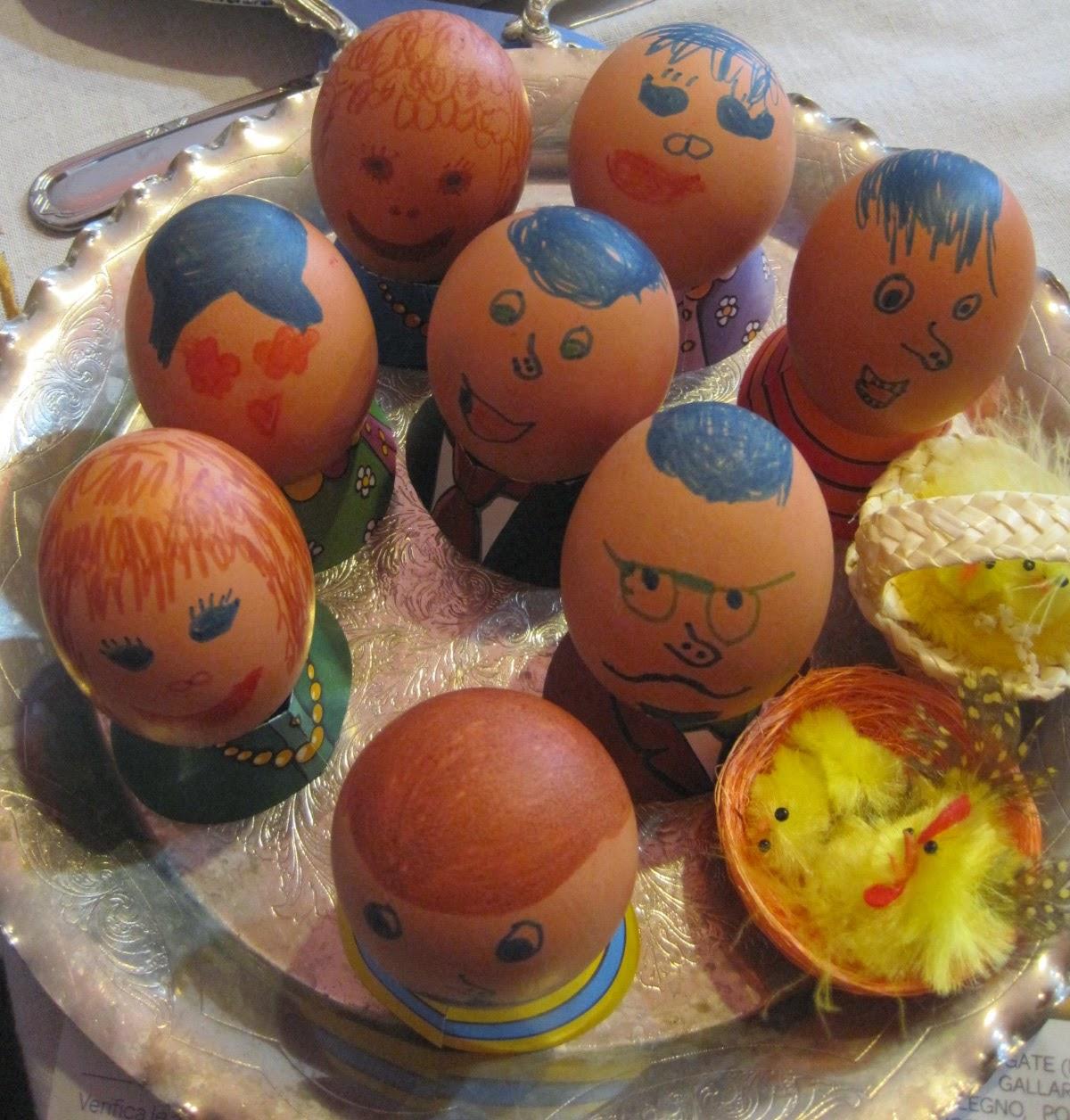 Gusci d'uova decorati per Pasqua