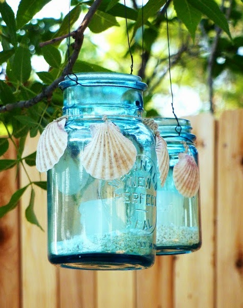 Charming Diy Coastal Beach Candle Lanterns Coastal Decor